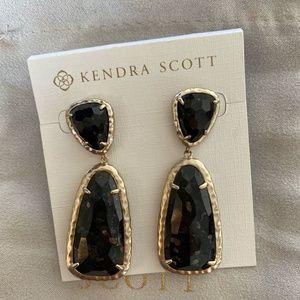 Kendra Scott black drop earrings, limited edition